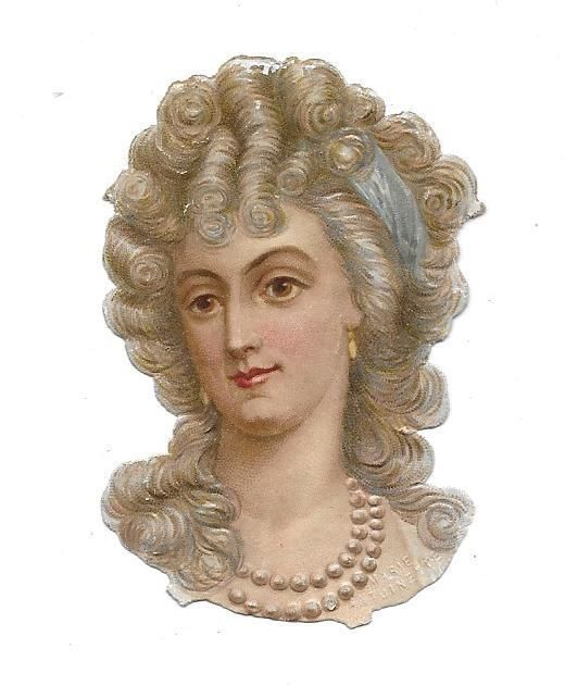 Victorian Die Cut Scrap Marie Antoinette of France: