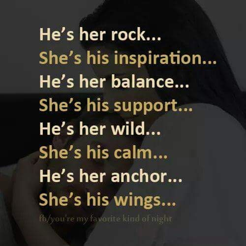 All so perfect.. Except the wild and calm I'm definitely his wild and he is my calm!