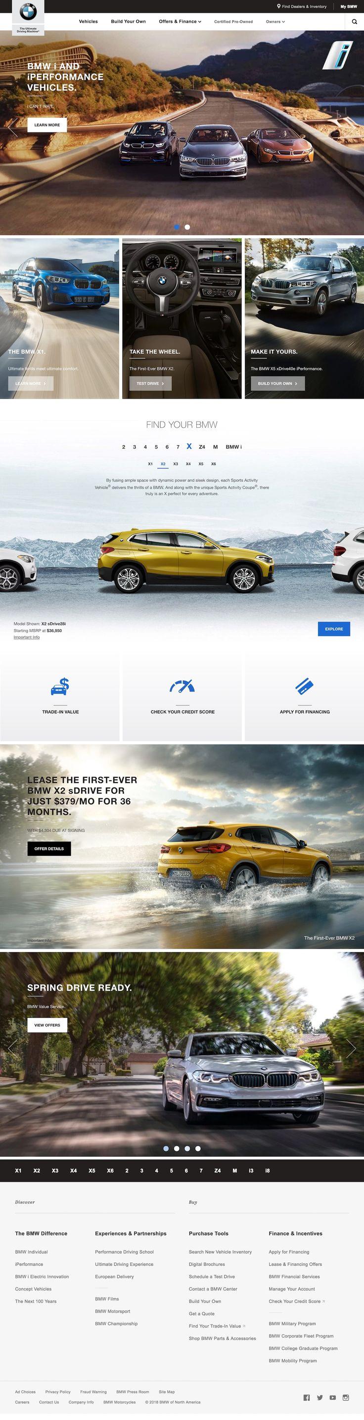 BMW clean web design to complement slick automobiles