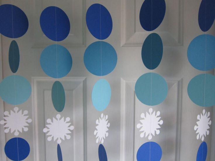 Adornos de papel para cumpleaños de Frozen