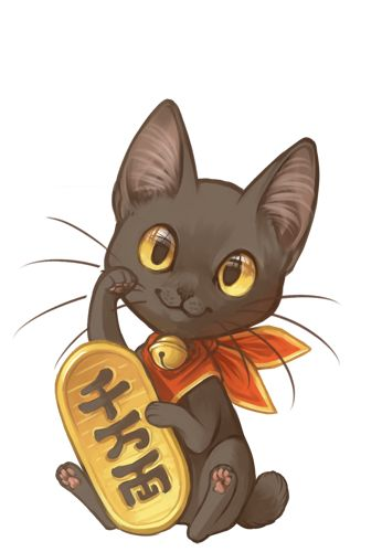 Half-Wit Dream: My take on 'Maneki Neko' - Japanese lucky cats....