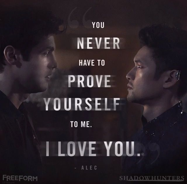 I loooove the show so much. I've read The Mortal Insturments, The Infernal Devices, Bane Chronicles, Tales From A ShadowHunter Academy, the first 2 books of The Dark Artifice and I love the show. I am a bit upset that they're making Alec look like he fights ALL the time with Magnus and he doesn't