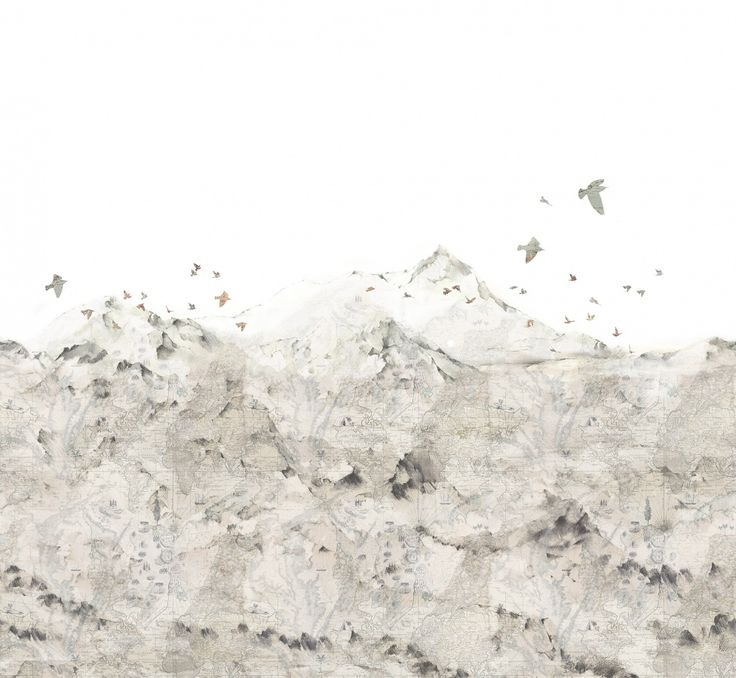 Paper Mountains | R13871 | Wall murals - Wallpaper | Rebel Walls