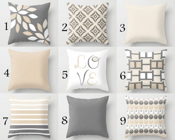 Throw Pillow Cover Neutral Pillow Covers Pillow by HLBhomedesigns