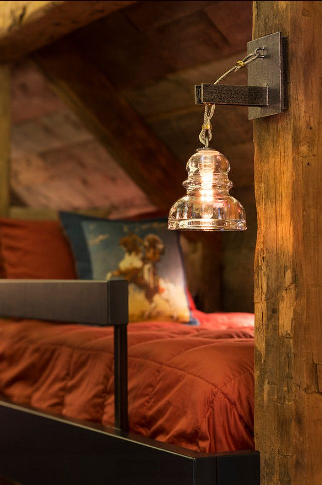 """Lighting Ideas. Lighting for Rustic Interiors. This particular sconce is the """"Menlo Park 14″ High Old Silver Wall Sconce""""."""