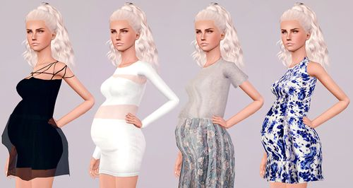My Sims 3 Blog: Maternity Enabled Dresses by Touchmypixels