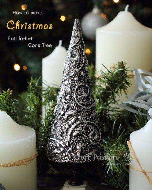 Елка из фольги на ваш новогодний стол | Мой Милый Дом — идеи рукоделия, вязание, декорирование интерьеров