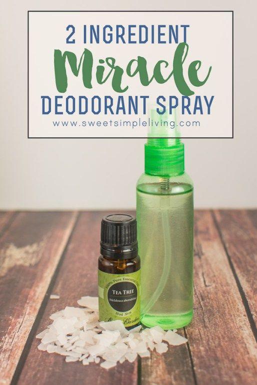 2 ingredient miracle deodorant spray