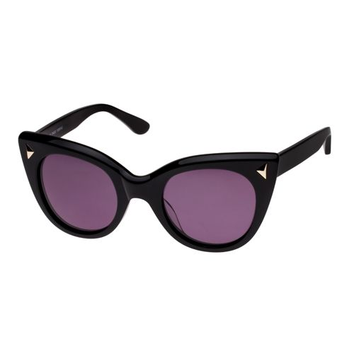 Sass & Bide Miss Blue Choo Black Sunglasses available from EYESONLINE