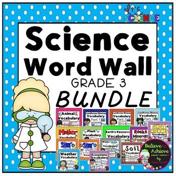 Science vocabulary words elementary