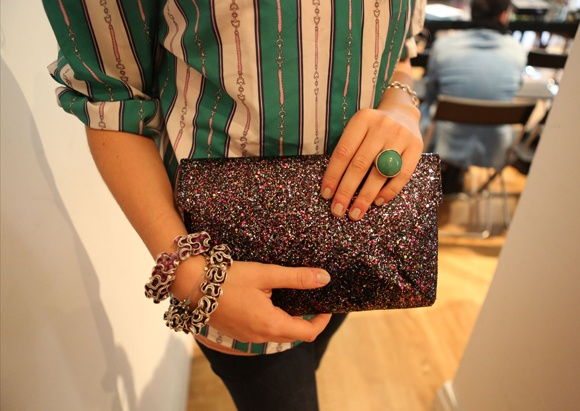 Accessories: Emerald Ring, Clutch and Eco Bracelet