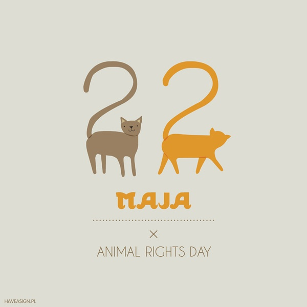 22th May - Animal Rights Day  /// Dzień Praw Zwierząt / by haveasign