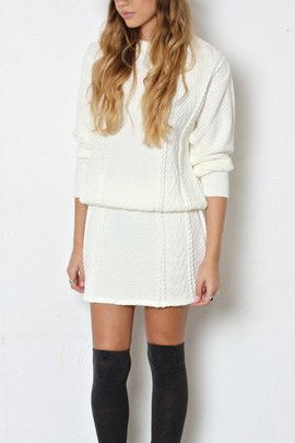 Imogen Knitted Co-Ord Set (Cream) http://shop.nylon.com/collections/whats-new/products/imogen-knitted-co-ord-set-cream #NYLONshop