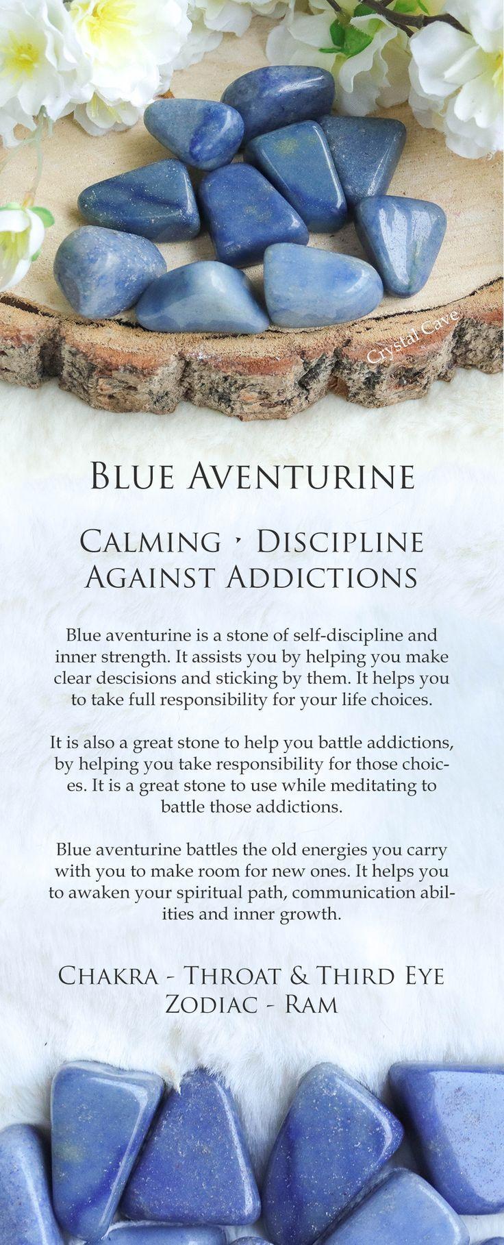 Blue Aventurine Tumbled Stone / Blue Aventurine Cuddle Stone / Crystal Against Addiction / Gemstone for Strength and Discipline / Meditation