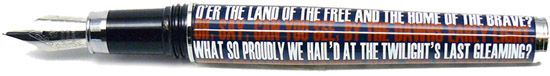 Jac Zagoory Ripple Pen Proudly She Waves - American Flag  Fountain Pen from Goldspot Pens!