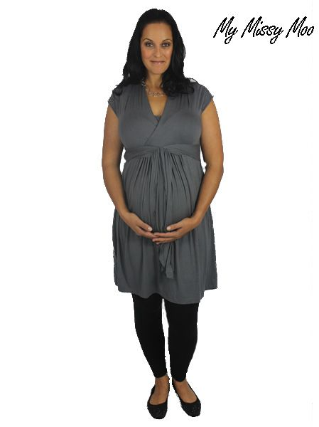 Versatilly Breastfeeding Dress (Silver Lining) by My Missy Moo - $69.95