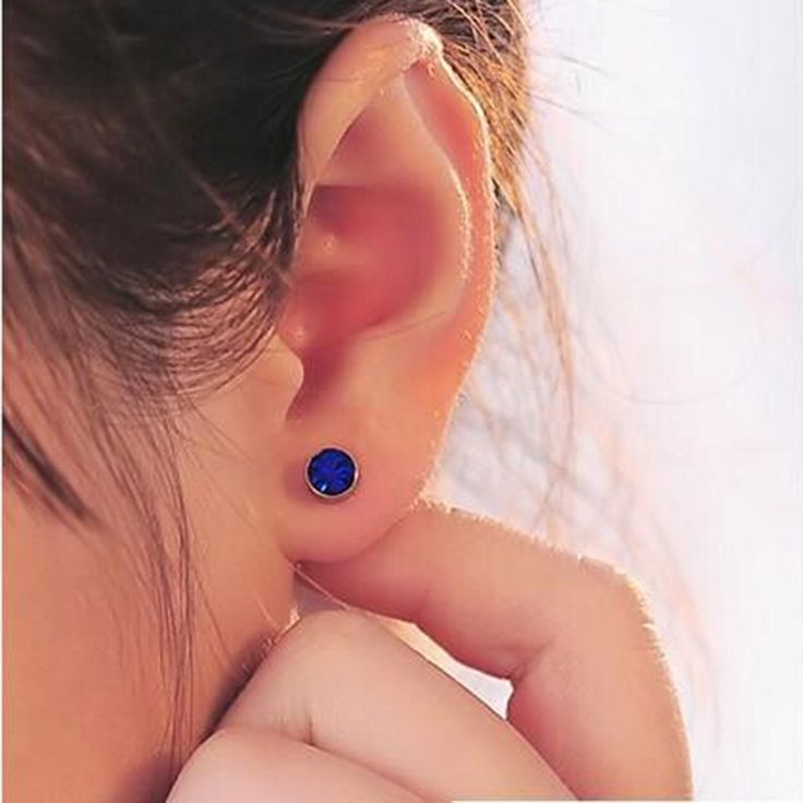 3 colors Magnetic Cartilage Hole Crystal Ear Cuff Clip Earrings Without Piercing For Men & Women On Jewelry