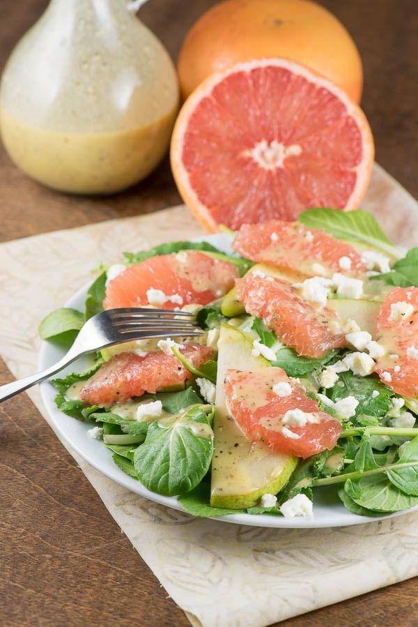 Grapefruit Salad with Champagne Vinaigrette - recipe from RecipeGirl.com