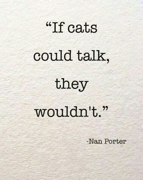 """""""Eğer kediler konuşabilseydi, yapmazlardı."""""""