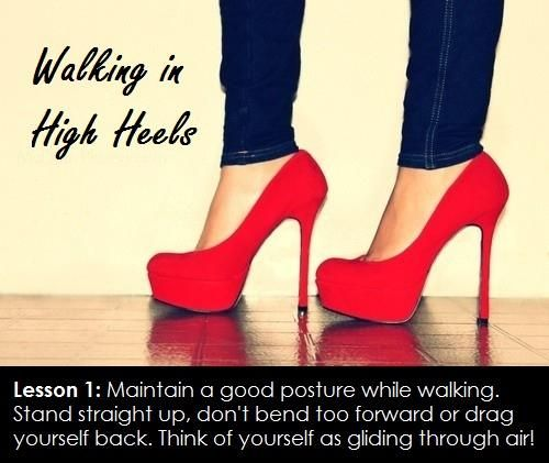 Starting off with maintaining a correct posture while walking.