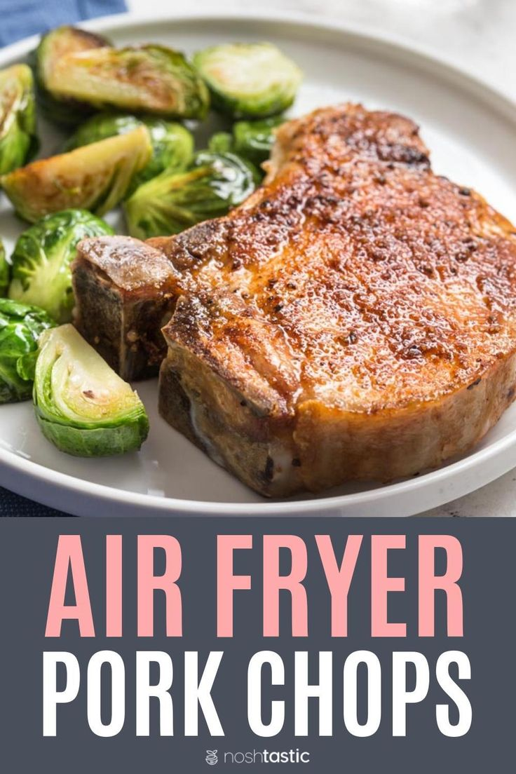air fryer pork chops, with keto friendly seasoning and NO