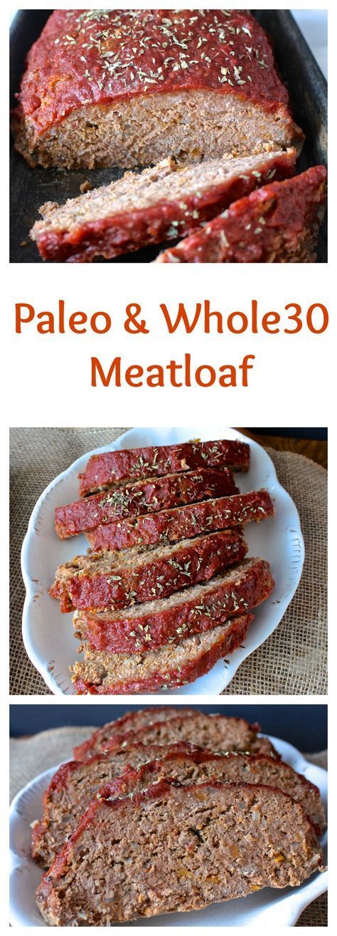 Paleo Meatloaf Ingredients 2 pounds grass-fed ground beef 1 large onion, diced 1 cup cooked sweet potato 1 cup almond flour 2 tablespoons coconut flour 1 egg (room temp is best) 1 cup Paleo ketchup 3 tablespoons coconut aminos 2 teaspoons salt 1 teaspoon garlic powder GLAZE ½ cup paleo ketchup 2 tablespoons coconut aminos 1 tablespoon honey (leave out for Whole30)