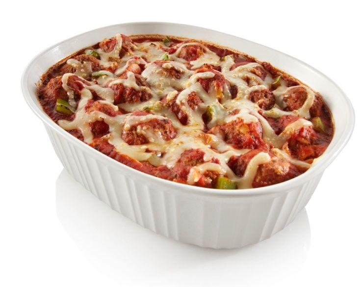 Hearty home-style Meatball Casserole. Great for freezing and saving extras!