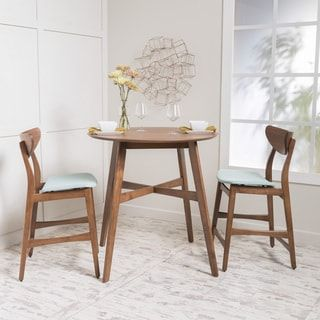 Shop for Gavin 3-piece Wood Counter-height Round Dining Set by Christopher Knight Home. Get free delivery at Overstock.com - Your Online Furniture Shop! Get 5% in rewards with Club O! - 20127630