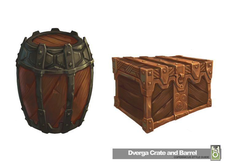 ArtStation - Kingdoms of Amalur - Dwarven Crate and Barrel, Ethan Scheu