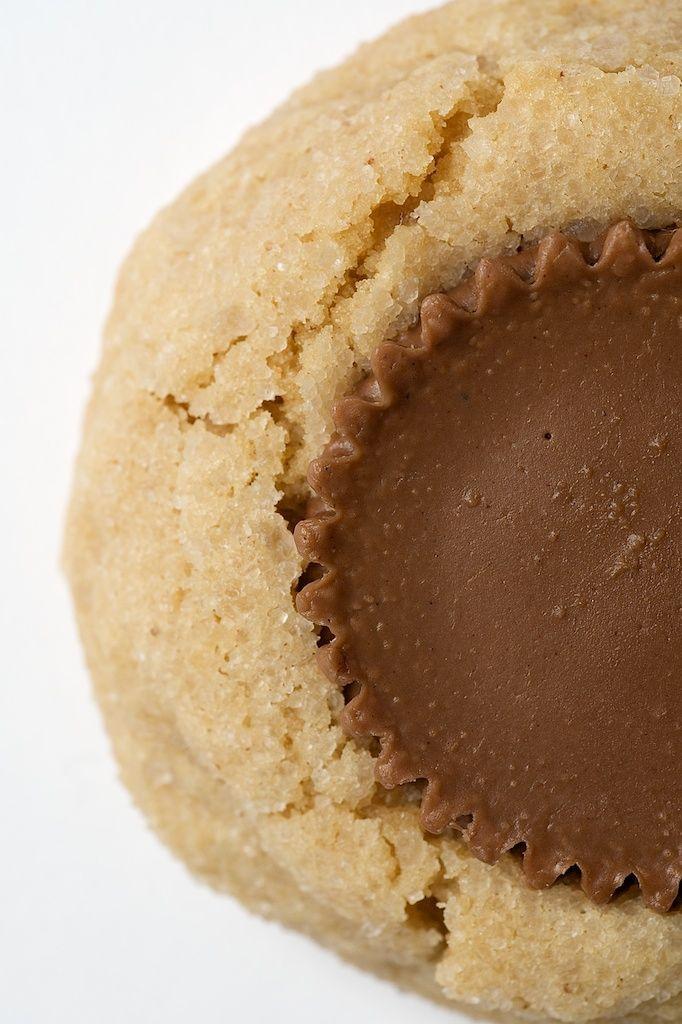 Peanut Butter Surprise Cookies are soft peanut butter cookies with a peanut butter cup right in the center! - Bake or Break