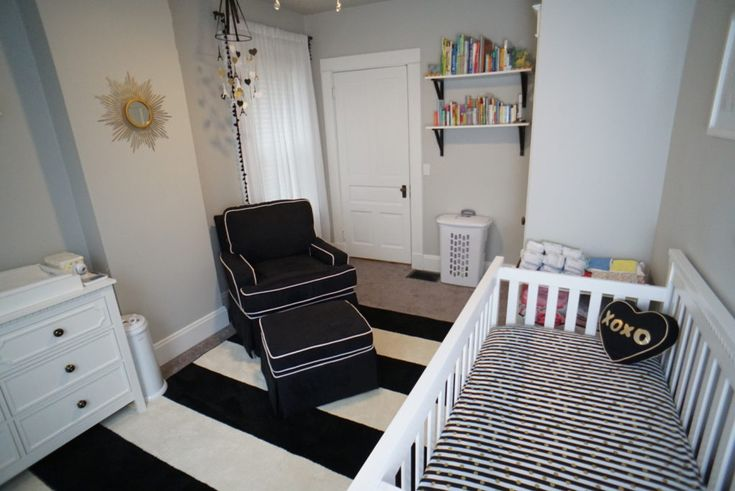 We know this is a baby girl nursery, but some of these elements would be great in a baby boy nursery, too!