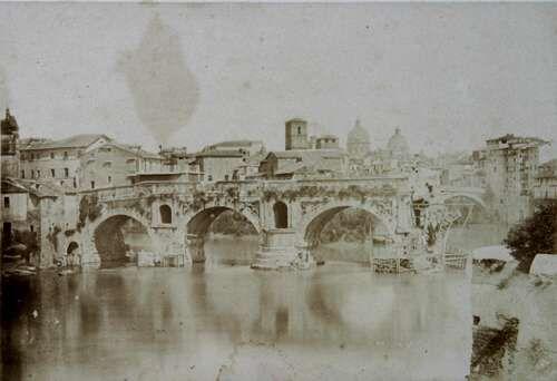 Rome, the Broken Bridge (Il Ponte Rotto) 1848