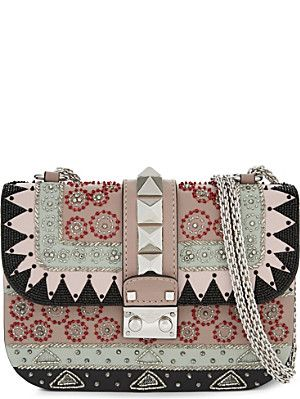 VALENTINO Studded mini leather shoulder bag