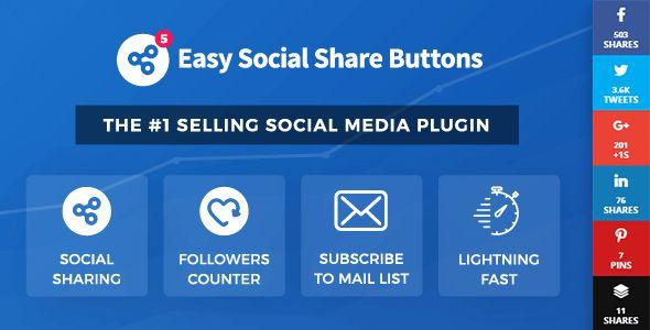 Easy Social Share Buttons v5.0 – #WordPress #Plugin