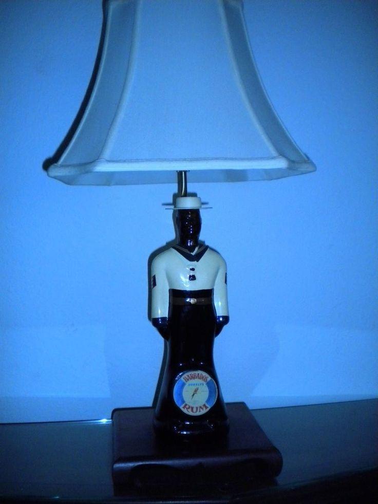 Navy Seabee Seal Team 6 Doorly's Rum Bottle USNA Navy Coast Guard Marine Lamp  !