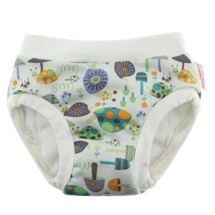 Pantalón de aprendizaje Blueberry para el control de esfínteres, elaborado con algodón, microfibra y PUL. Talla pequeña para bebés con un peso entre 10 y 13 Kg y cinturas de 35 a 51 cm.