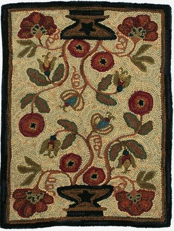 Homespice Decor Hooked Rugs Potted Flower Rug I Love The Flow Of This Rug  And Color