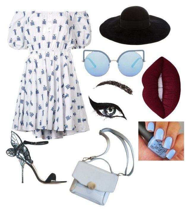 Summer♡ by noemie-germain on Polyvore featuring polyvore, fashion, style, Caroline Constas, Sophia Webster, Eugenia Kim, Matthew Williamson, Concrete Minerals and clothing