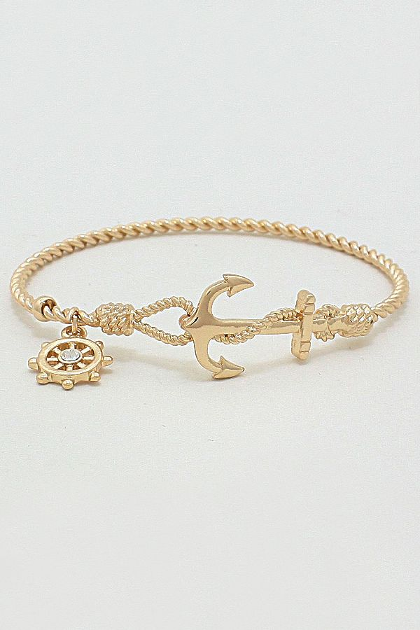 Nautical Cable Bracelet in Gold | Awesome Selection of Chic Fashion Jewelry | Emma Stine Limited