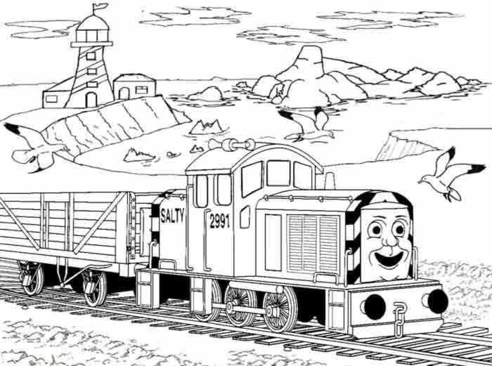 thomas train coloring pages 2 612 792 - Printable Thomas The Train Coloring Pages