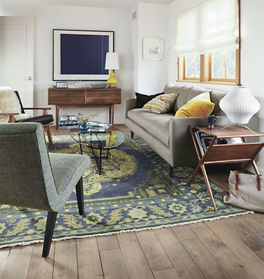Living Room Rug Citron Heriz Rugs - All Rugs - Rugs - Room & Board