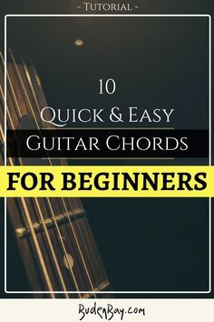 Learn to play player quick and easy with these 10 guitar chords. Every guitarist in the world should learn these 10 simple chords as they are perhaps the most used chords in all of the world's music. Keep playing!