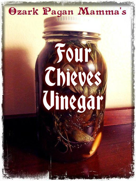 Ozark Pagan Mamma's Four Thieves Vinegarhttp://tressabelle.wordpress.com/2014/03/02/four-thieves-vinegar/