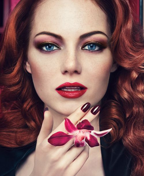 2012s-The current face of Revlon is Emma Stone.