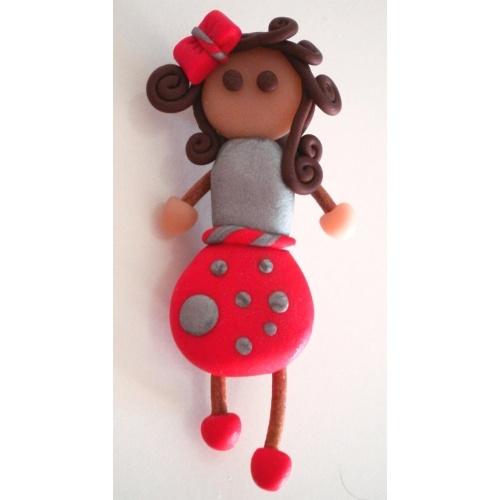Broche Mini Doll Hecho de pasta polimerica