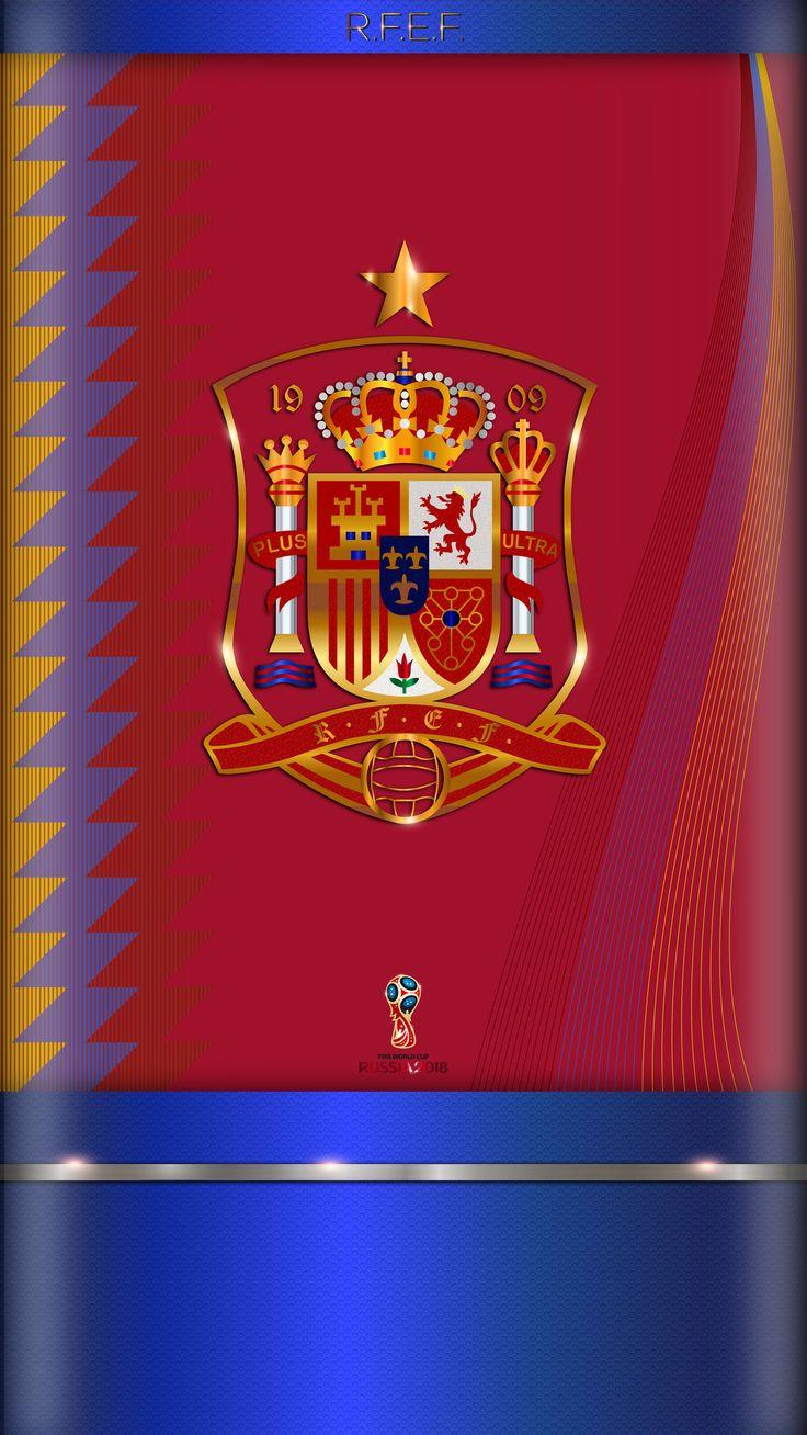 https://flic.kr/p/21h1joQ | Fondo de Pantalla 5.5p Selección Española de Fútbol | Colores de la camiseta oficial de la selección Española para el Mundial de Fútbol en Rusia 2018.