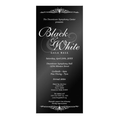 The 12 best 30th bday ideas images on pinterest birthdays black white gala ball dance corporate tea length invitation stopboris Choice Image