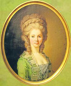 Portrait de Louise Henriette Friederica von Ziegler, fille d'honneur de la landgrave Caroline de Hesse-Homburg, vers 1770 artiste inconnu