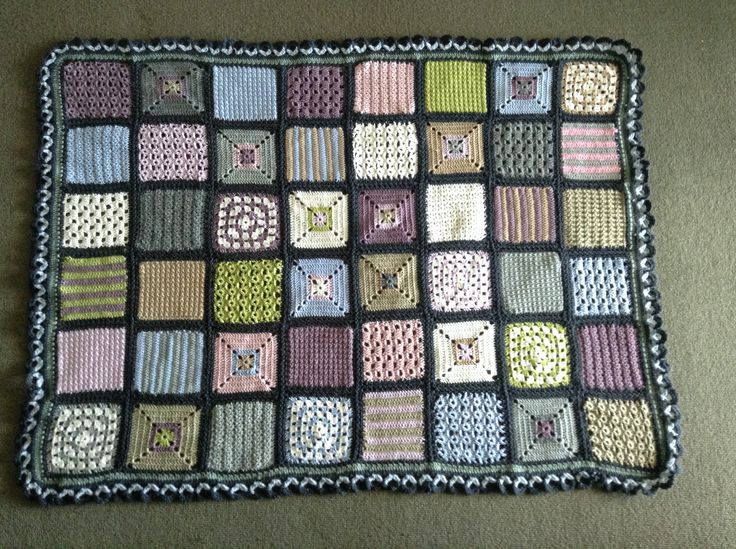 Ryan's cot blanket, started before he was conceived, only took a year and a half to complete! OMG, so pleased it is finished, although there has been plenty of knitting and sewing projects done in between. Must remember: finish a project before you start another one. Yeah, right!