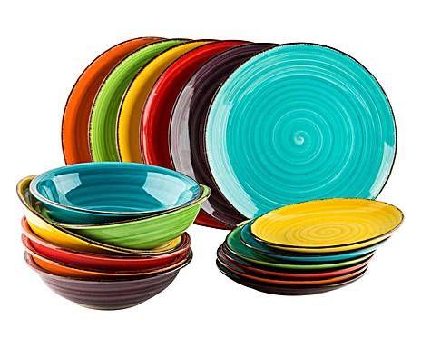 Servizio di piatti in gres Baita - 18 pezzi